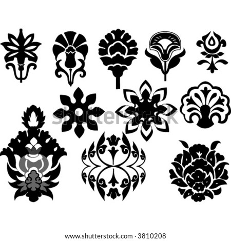 floral design element icons