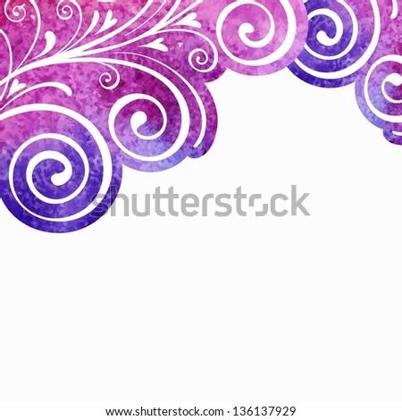 Floral design element. Watercolor pattern. - stock vector