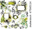 floral design elements - stock vector