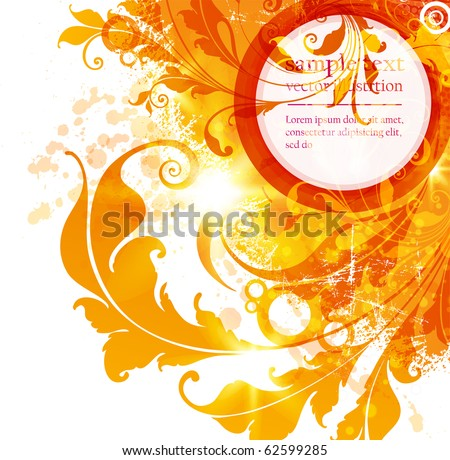 Floral design elements. Flower abstract background for design. Vector. eps 10. - stock vector