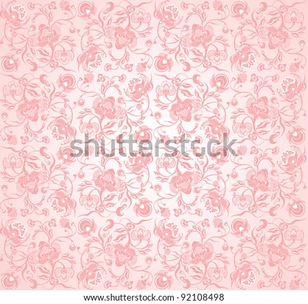 floral design pinky pattern - stock vector