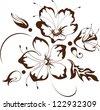 Floral design, vector illustration - stock vector