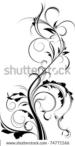 Floral element. - stock vector
