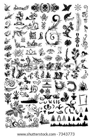 Floral Element For Designer Ornament
