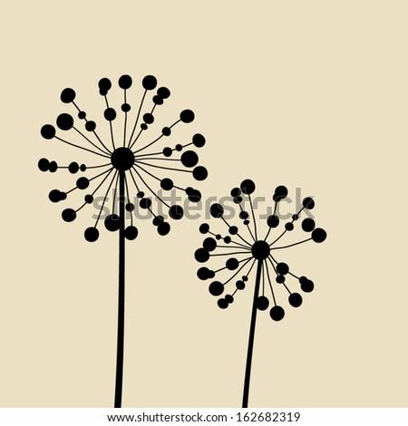 Floral Elements for design, dandelions. EPS10 Vector illustration - stock vector