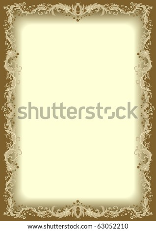 Floral frame. - stock vector