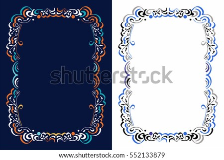 Floral frame for text