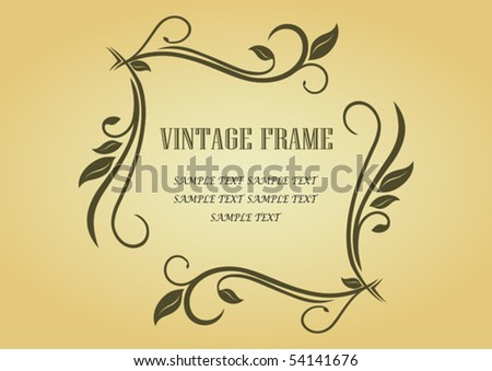 Floral frame in victorian style for design as a background. Jpeg version also available in gallery - stock vector