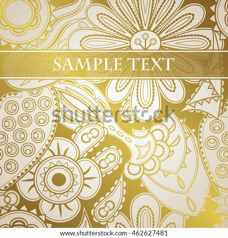 Floral golden pattern. Can be used for wallpaper, textile, card design