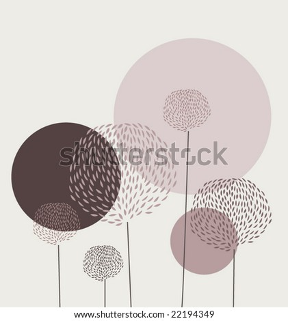 floral graphic - stock vector