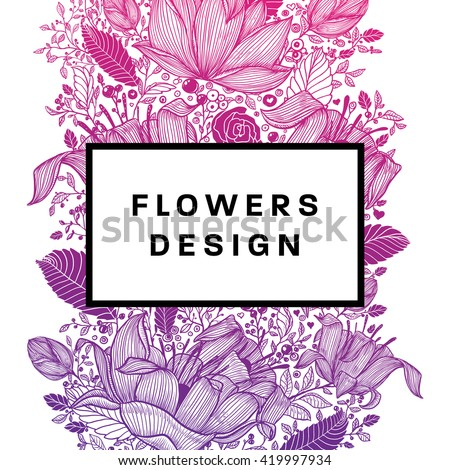 Floral Graphic Design Spring And Summer Fashion Style With Vector Flowers