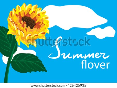 Floral  Graphic Design with sunflower