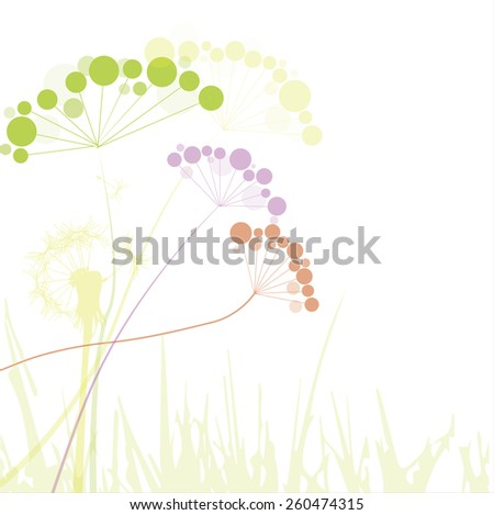Floral greeting card - stock vector
