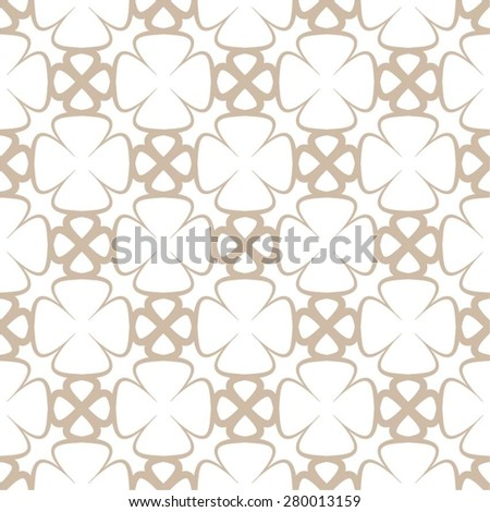 Floral grid pattern, seamless vector background. - stock vector