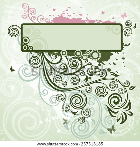 Floral grunge backdrop, - stock vector