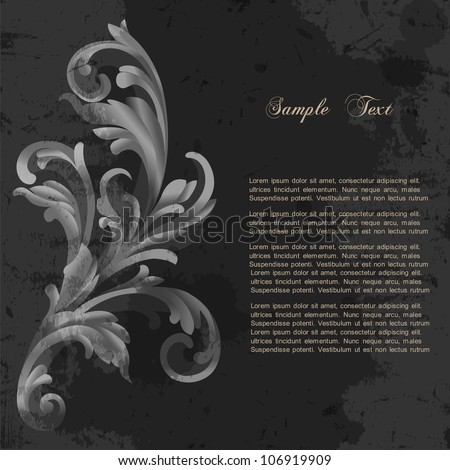 Floral grunge background. Vector eps10 - stock vector
