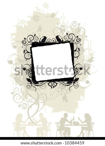 Floral grunge frame with place for your text