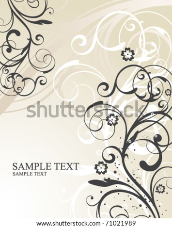 floral illustration - stock vector