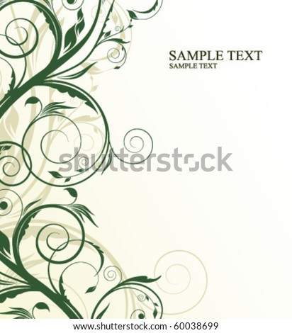 floral illustration for design - stock vector