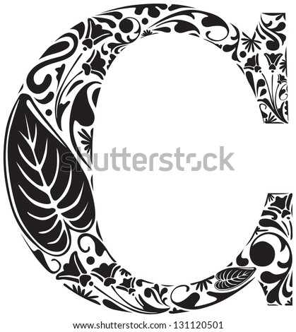 Calligraphy Capital Letter c Capital Letter c Stock
