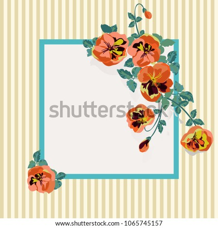 Floral invitation small flowers greeting card stock vector floral invitation in small flowers greeting card template design artwork for the poster m4hsunfo