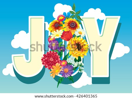 Floral joy Graphic Design with summer flowers