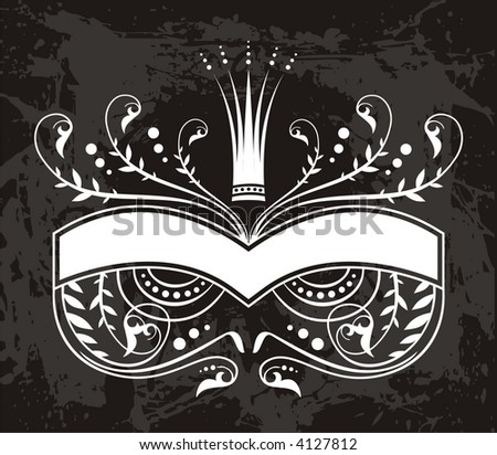 floral label - stock vector