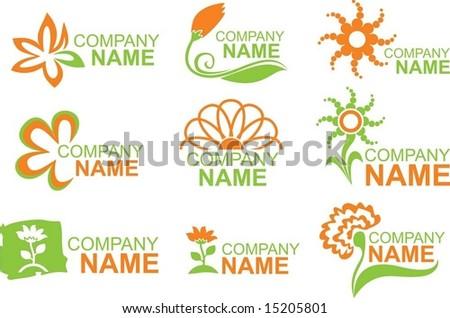 floral logos - stock vector