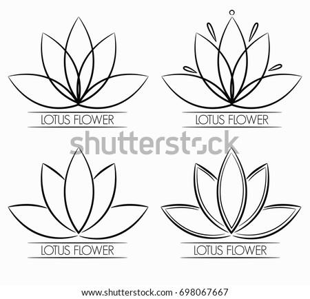 Floral lotus flower logo abstract stock vector 698067667 shutterstock mightylinksfo