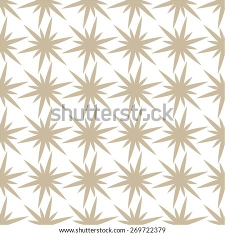 Floral monochrome pattern, seamless vector background. - stock vector