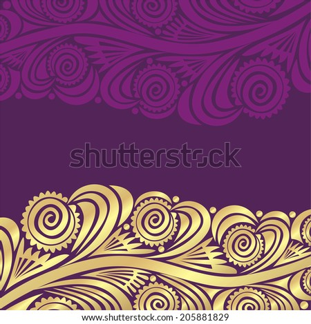 Floral nature pattern card vector illustration - stock vector