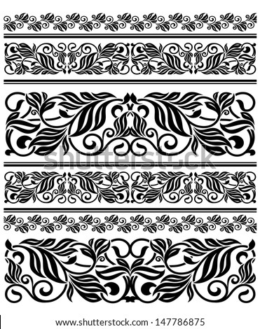 Floral ornament elements and embellishments for design. Jpeg version also available in gallery - stock vector