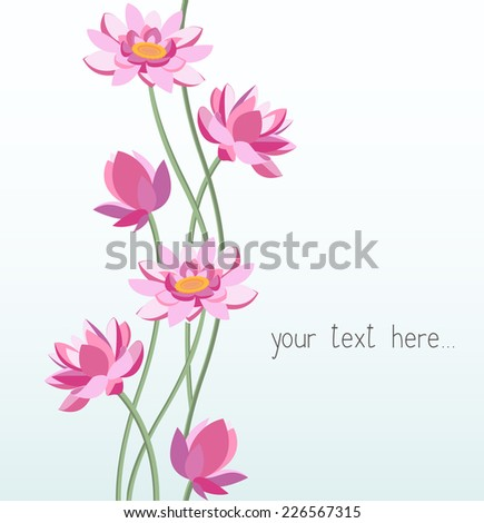 Floral ornament - lotus. Vector illustration.