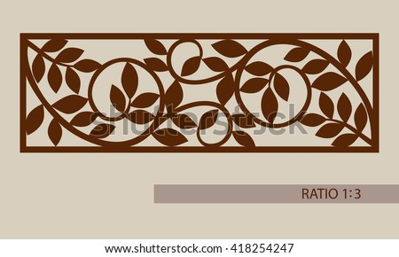 Floral Ornament Template Pattern Decorative Panel Stock Vector 418254247