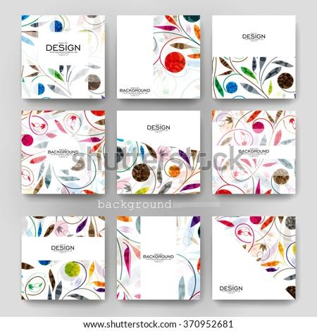 floral ornament vector brochure template. Flyer Layout. Creative modern design - stock vector
