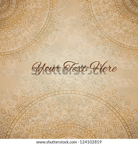 Floral ornaments on vintage background with space for your text - stock vector