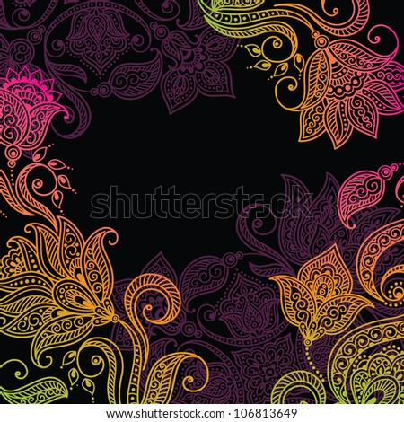 Floral pattern background with decorative ornament - stock vector