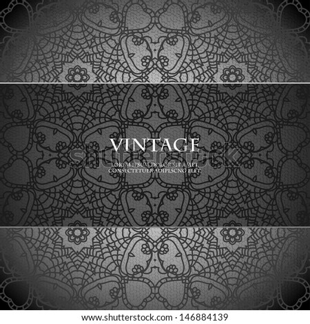 Floral pattern background with indian ornament. Vintage lace mandala. EPS10.