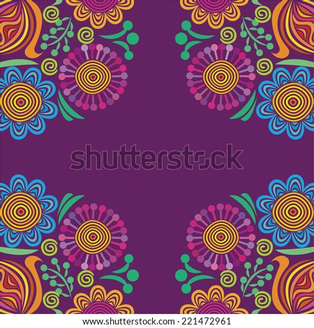 Floral pattern card vector illustration