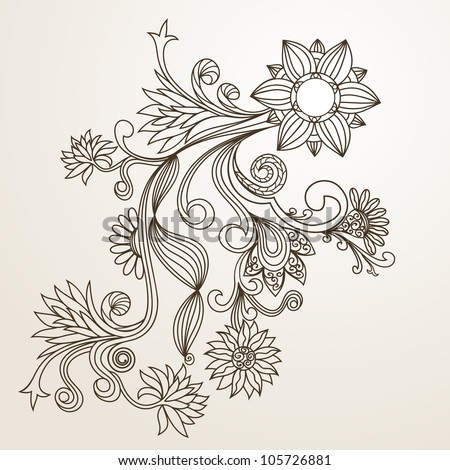Floral pattern hand drawing illustration stock vector 105726881 floral pattern hand drawing illustration thecheapjerseys Choice Image