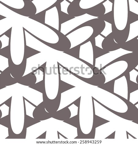 Floral pattern in contrasting colors, seamless vector background. - stock vector