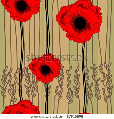 floral pattern in country style - stock vector