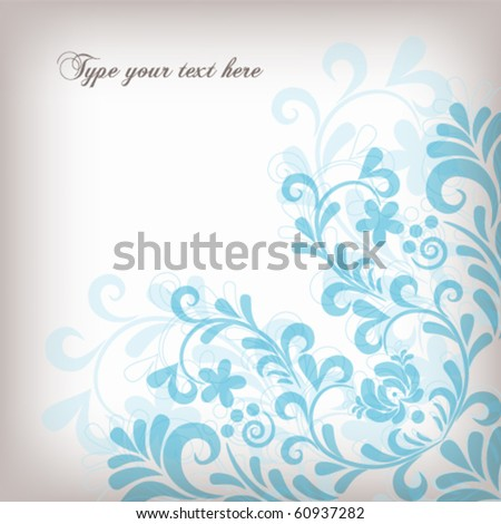 Floral pattern in pastel shades