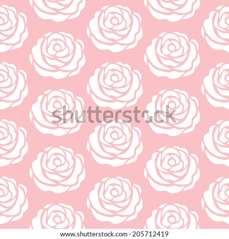 Floral pattern. Pink seamless vector pattern. The texture may be used for printing on fabric or paper and background in web design. - stock vector