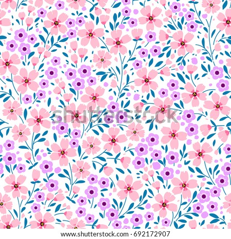 Pretty flower background pictures adsleaf fl pattern pretty flowers on white stock vector royalty free mightylinksfo