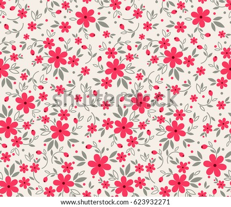 vector retro cute seamless pattern red stock vector