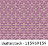 Floral pattern seamless. Flourish vector motif on violet background. - stock vector