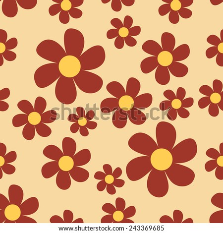 Floral pattern. Simple flowers. Vector. - stock vector
