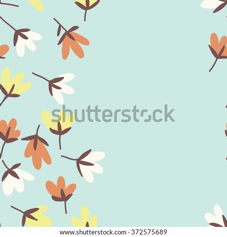 Floral pattern. Spring or summer vector background. Hand-drawn doodle pattern with garden flower and bud.