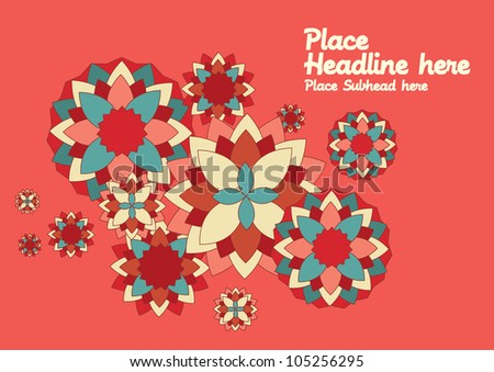 floral pattern template vector/illustration - stock vector
